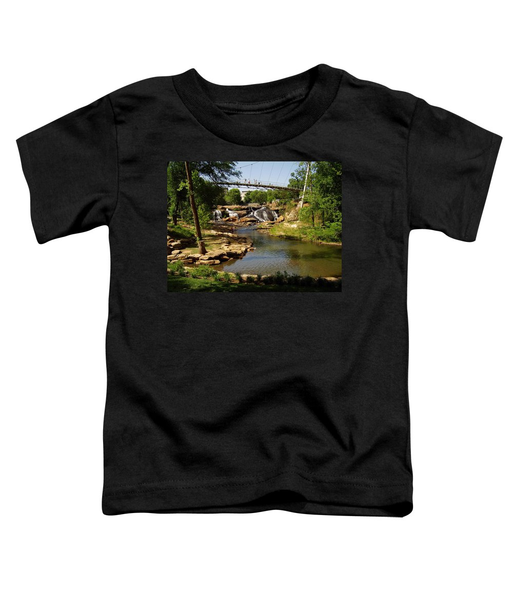 Liberty Bridge Toddler T-Shirt featuring the photograph Liberty Bridge by Flavia Westerwelle