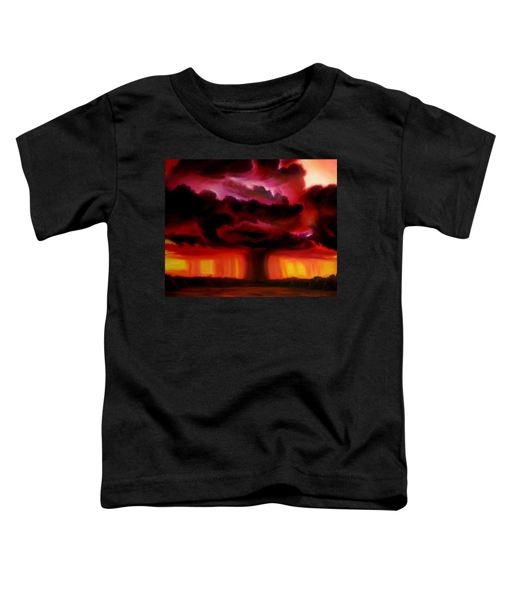 Skyscape Toddler T-Shirt featuring the painting Microburst by James Christopher Hill