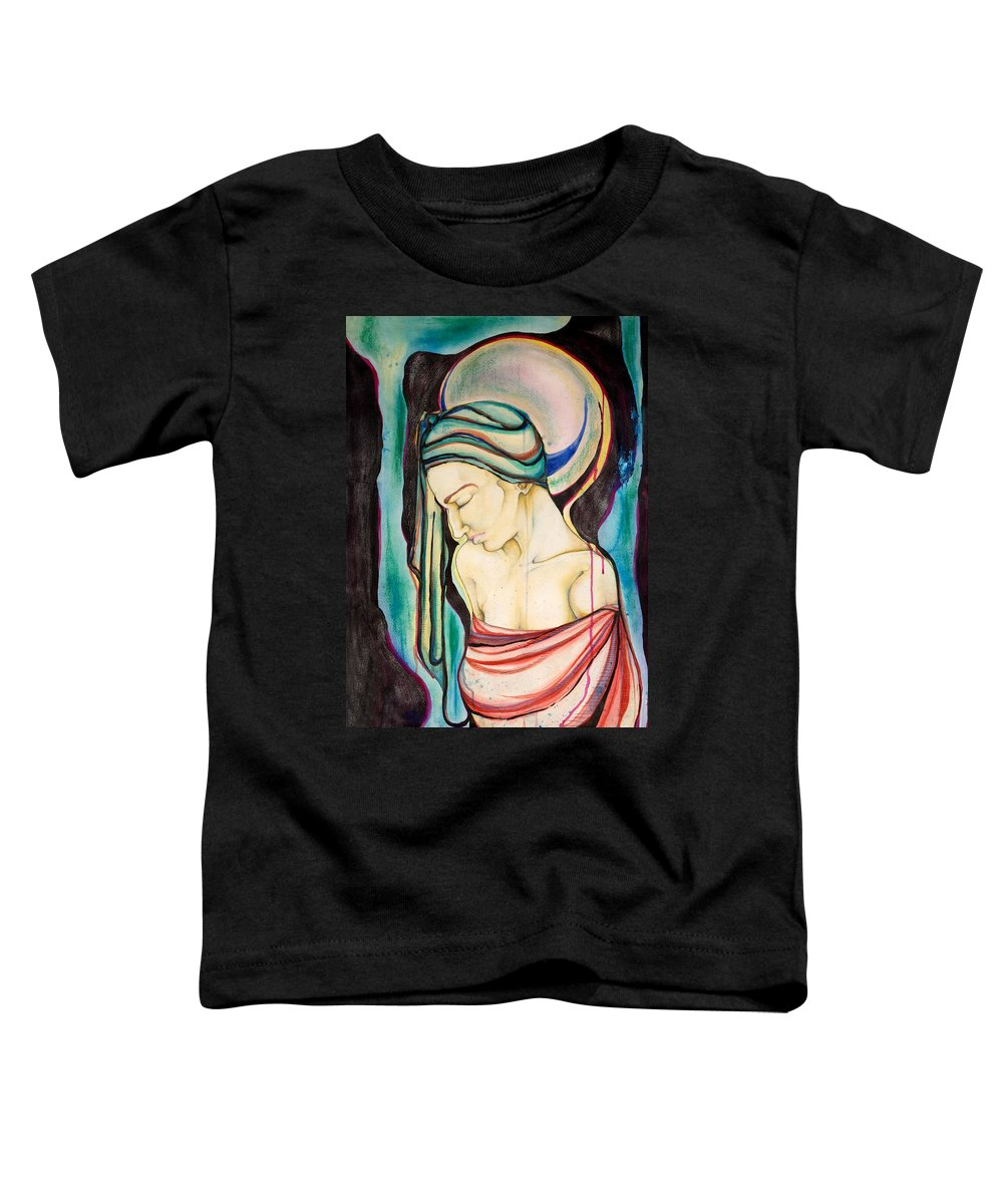 Peace Toddler T-Shirt featuring the painting Peace Beneath The City by Sheridan Furrer