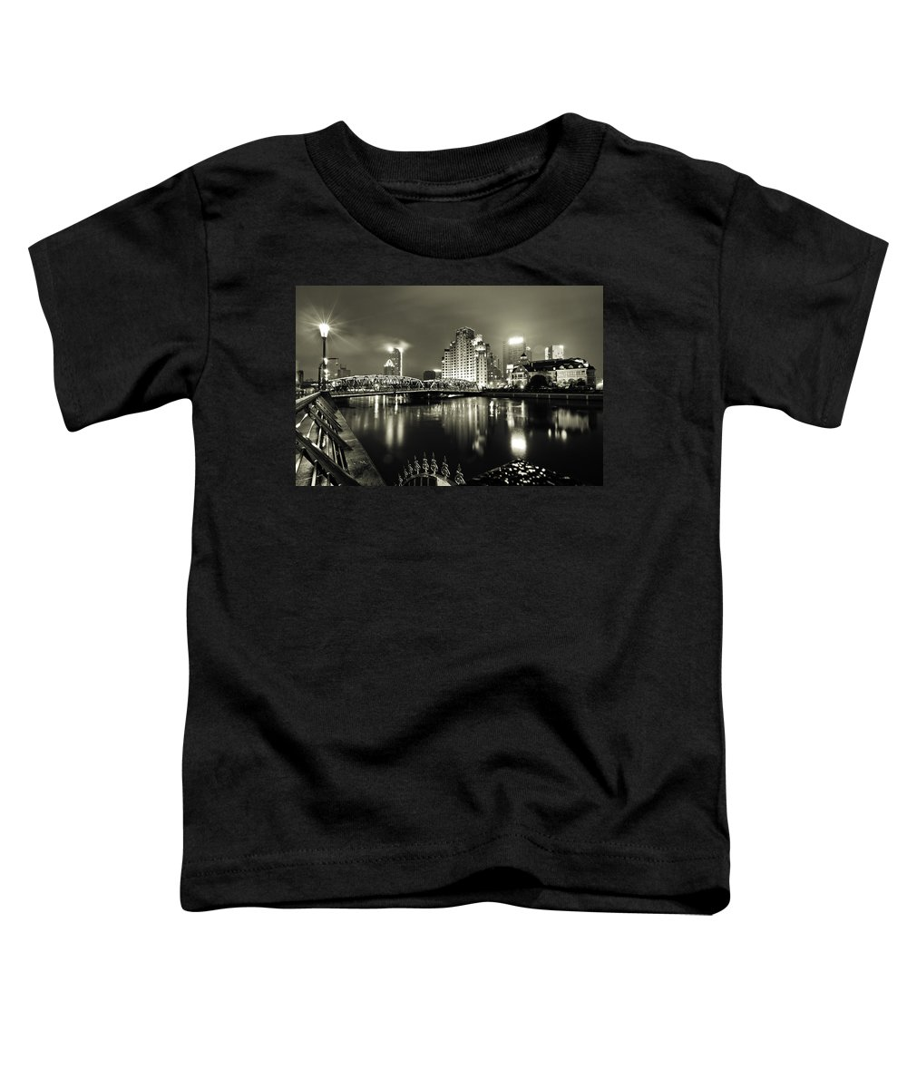 Cityscape Toddler T-Shirt featuring the photograph Shanghai Nights by Chris Cousins