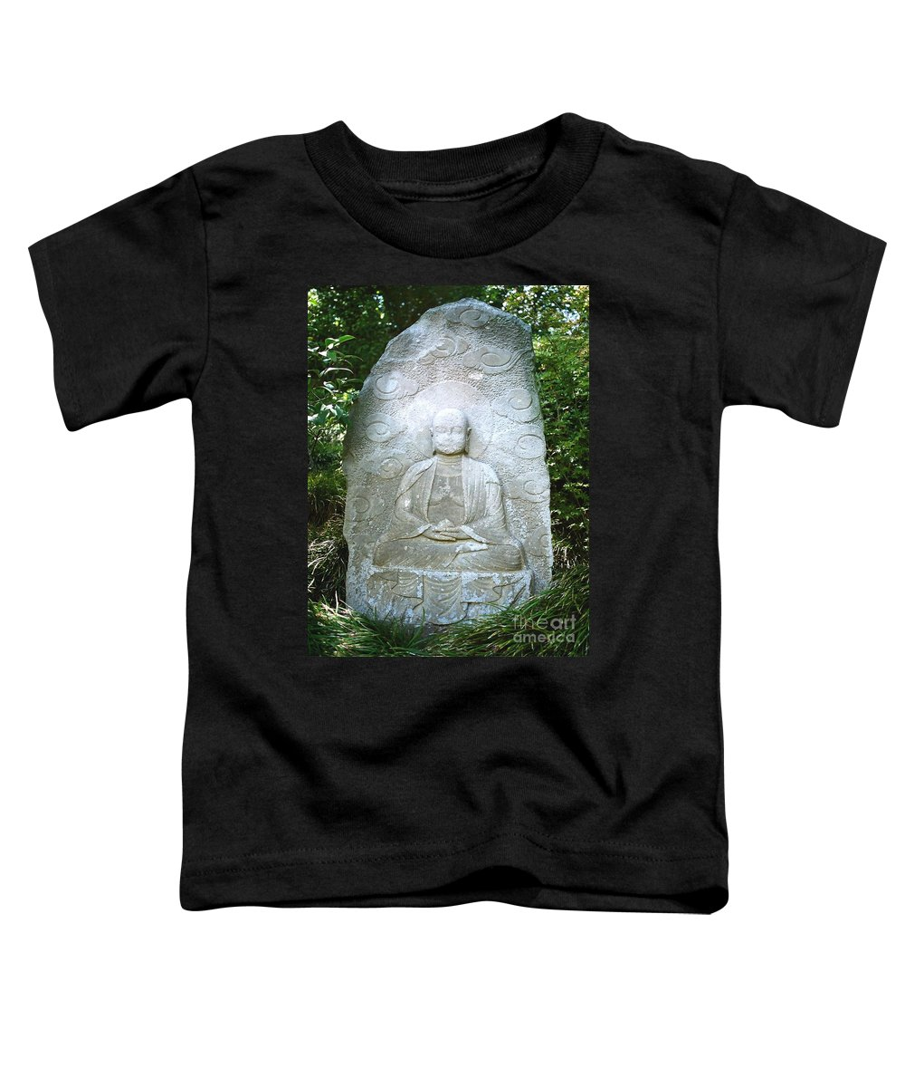 Stone Toddler T-Shirt featuring the photograph Stone Buddha by Dean Triolo