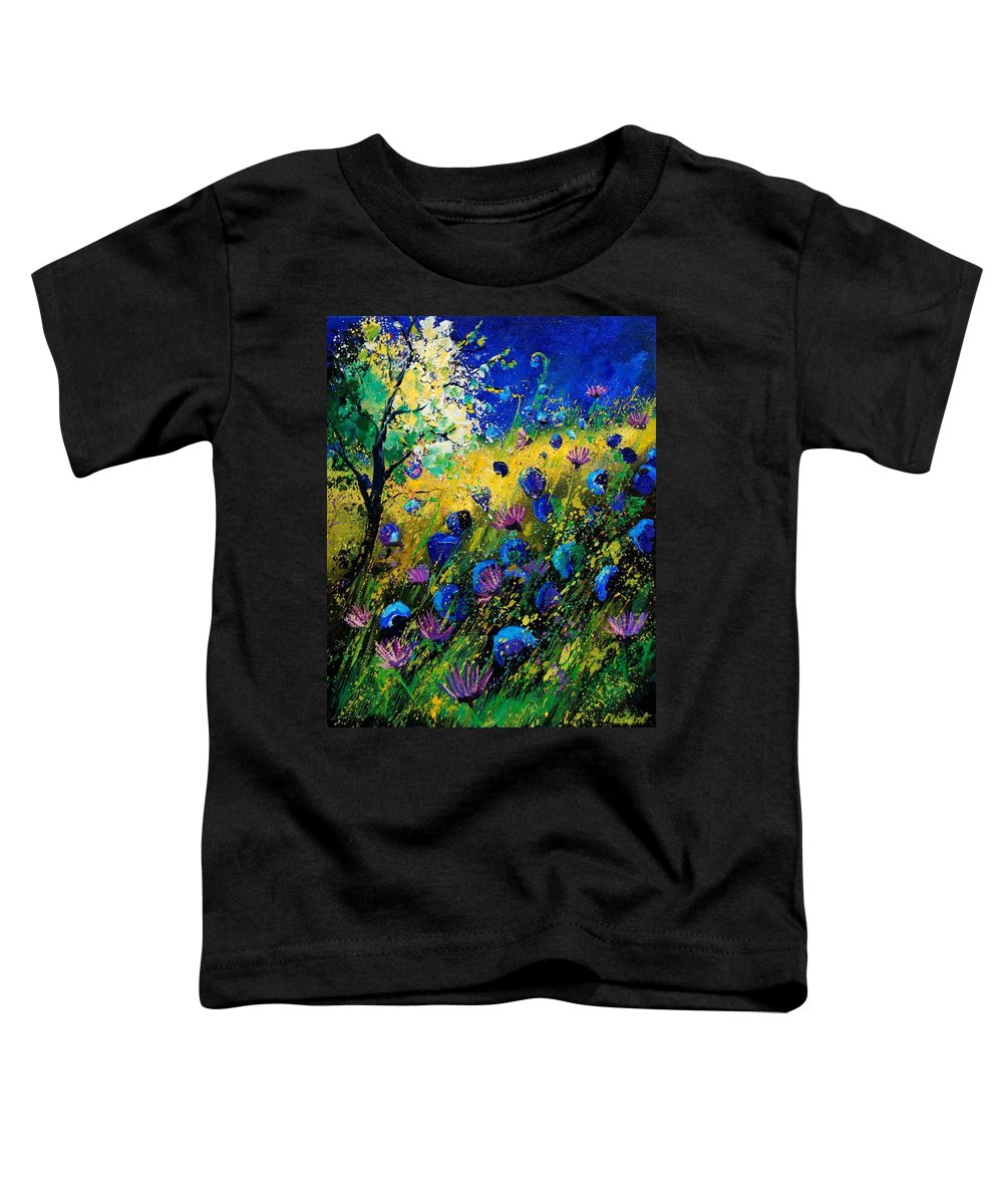 Poppies Toddler T-Shirt featuring the painting Summer 450208 by Pol Ledent