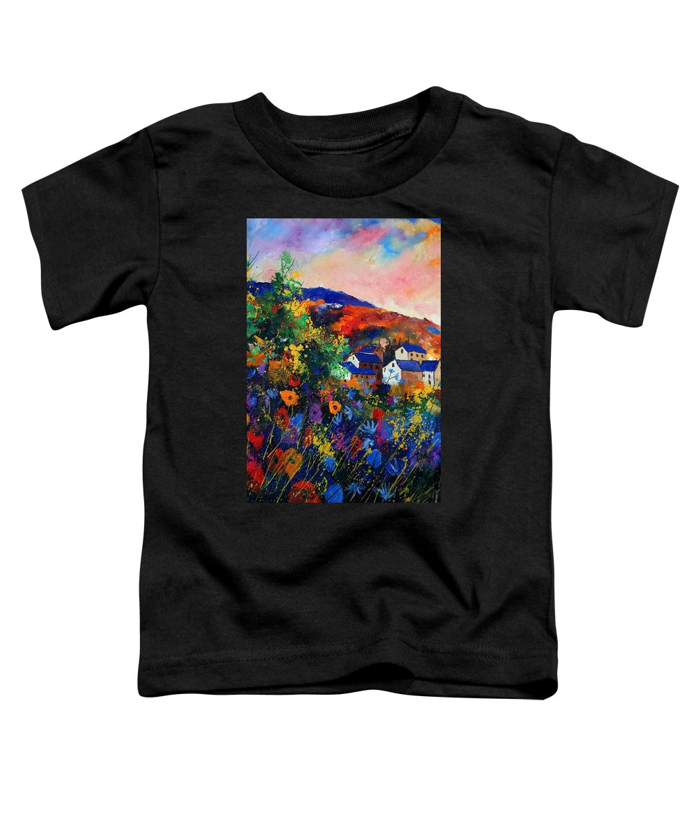 Landscape Toddler T-Shirt featuring the painting Summer by Pol Ledent
