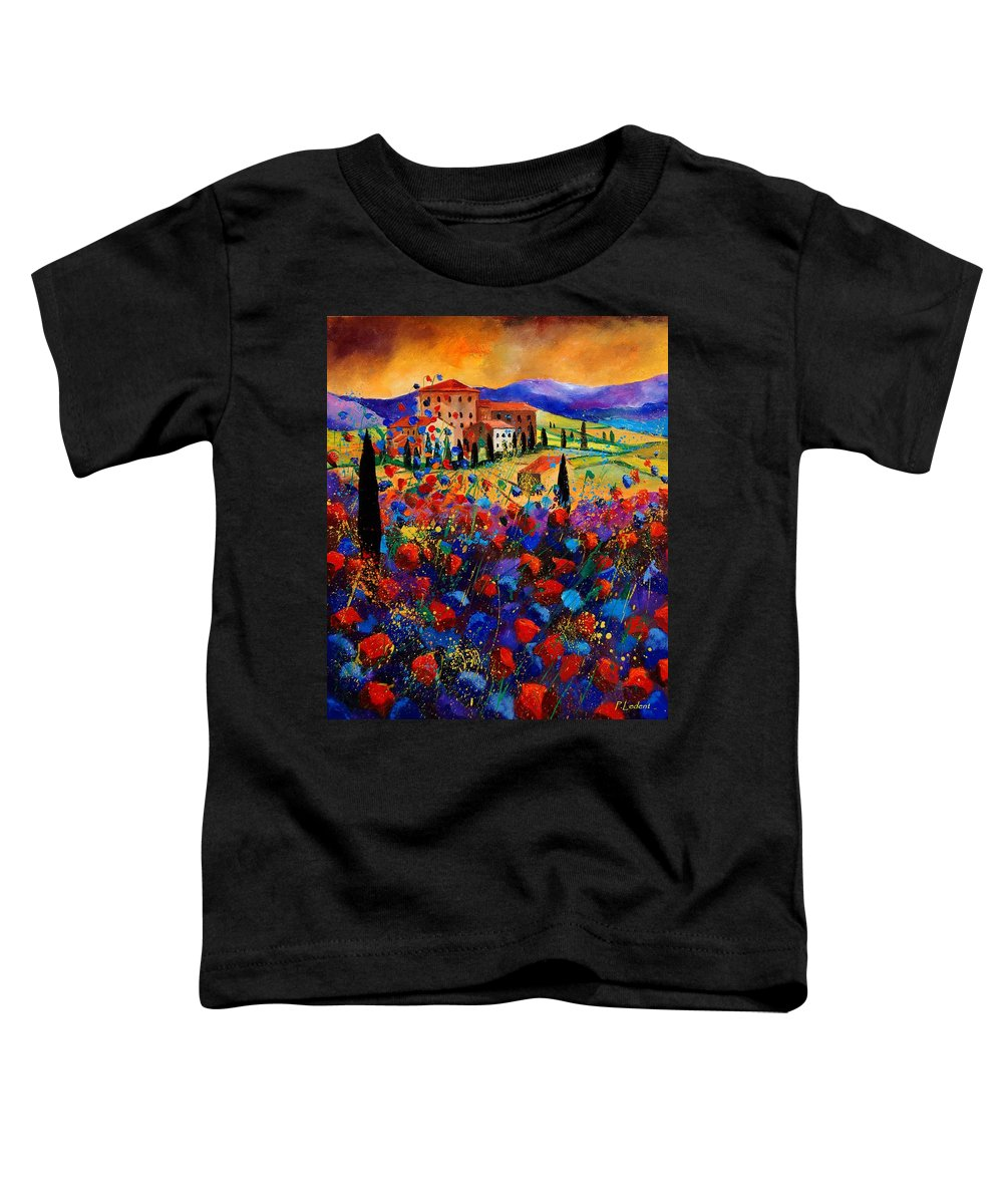 Flowers Toddler T-Shirt featuring the painting Tuscany Poppies by Pol Ledent