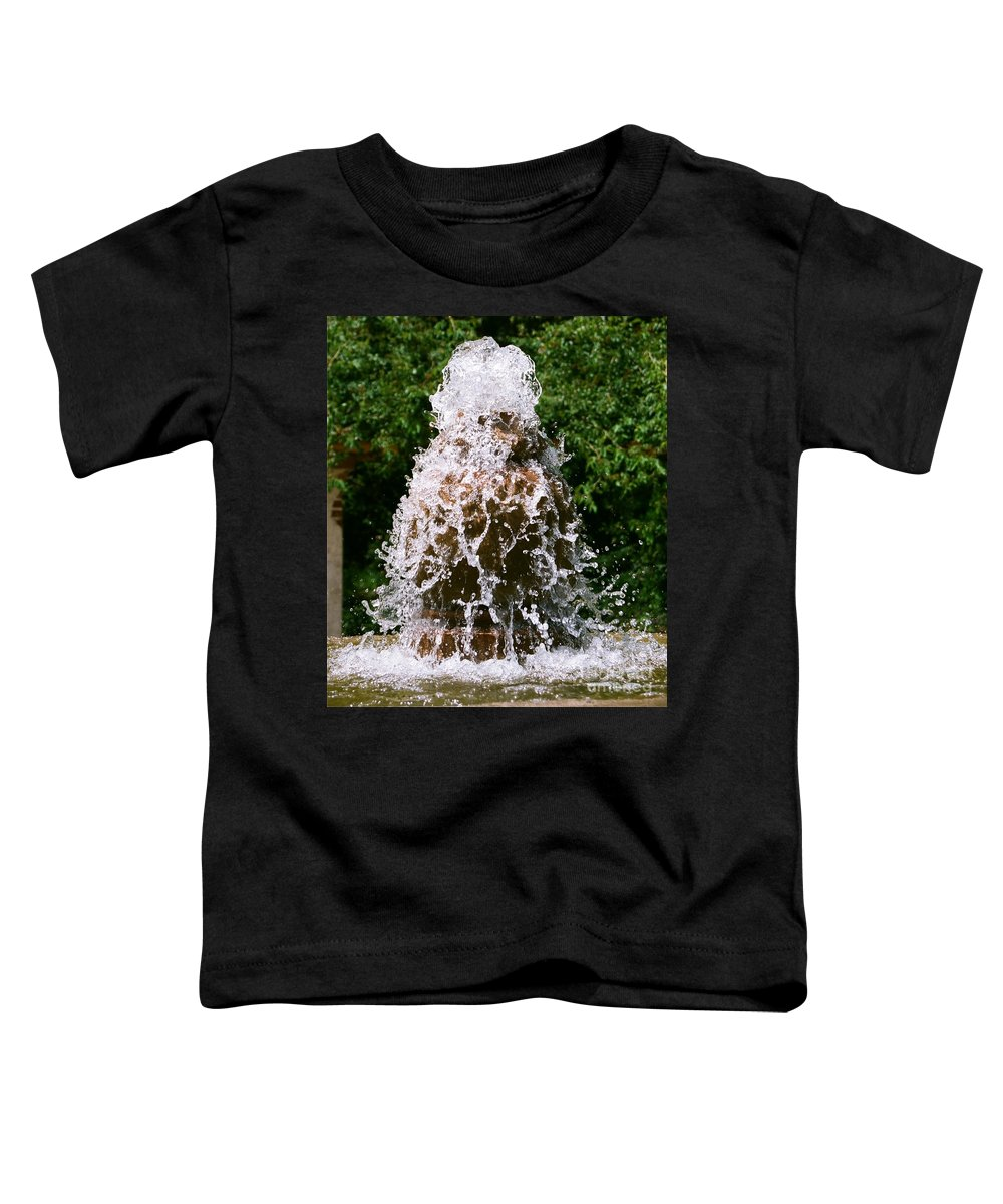 Water Toddler T-Shirt featuring the photograph Water Fountain by Dean Triolo