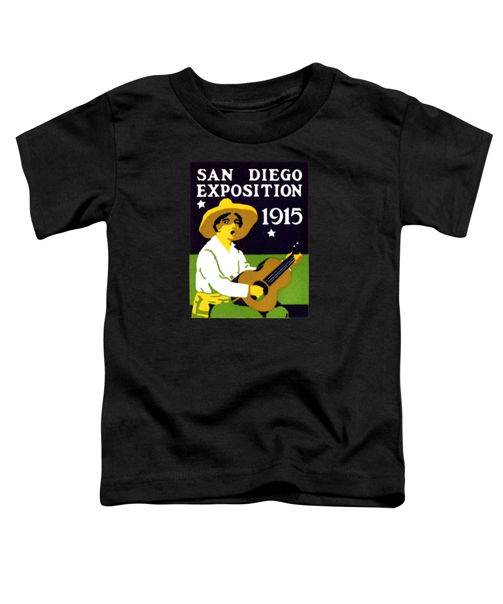 Historicimage Toddler T-Shirt featuring the painting 1915 San Diego Expo Poster 2 1915 by Historic Image