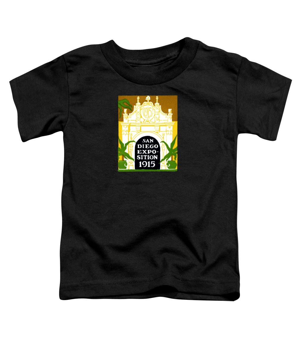 Historicimage Toddler T-Shirt featuring the painting 1915 San Diego Expo Poster 3 by Historic Image