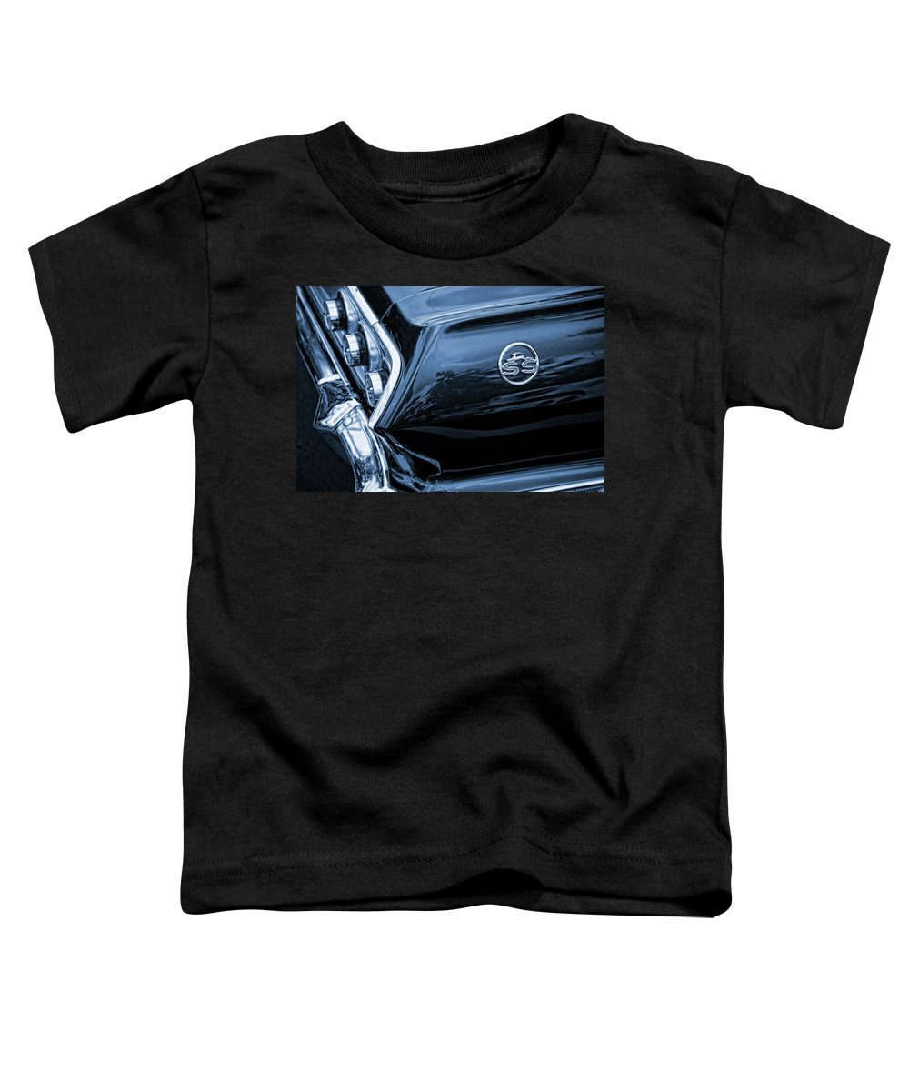 1963 Toddler T-Shirt featuring the photograph 1963 Chevy Impala Blue 1963 by Gordon Dean II