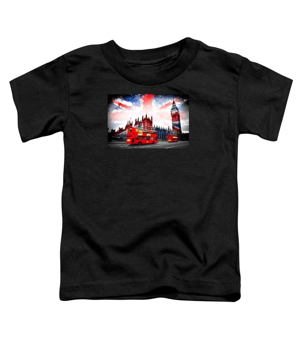 London Toddler T-Shirt featuring the painting London by Mark Ashkenazi