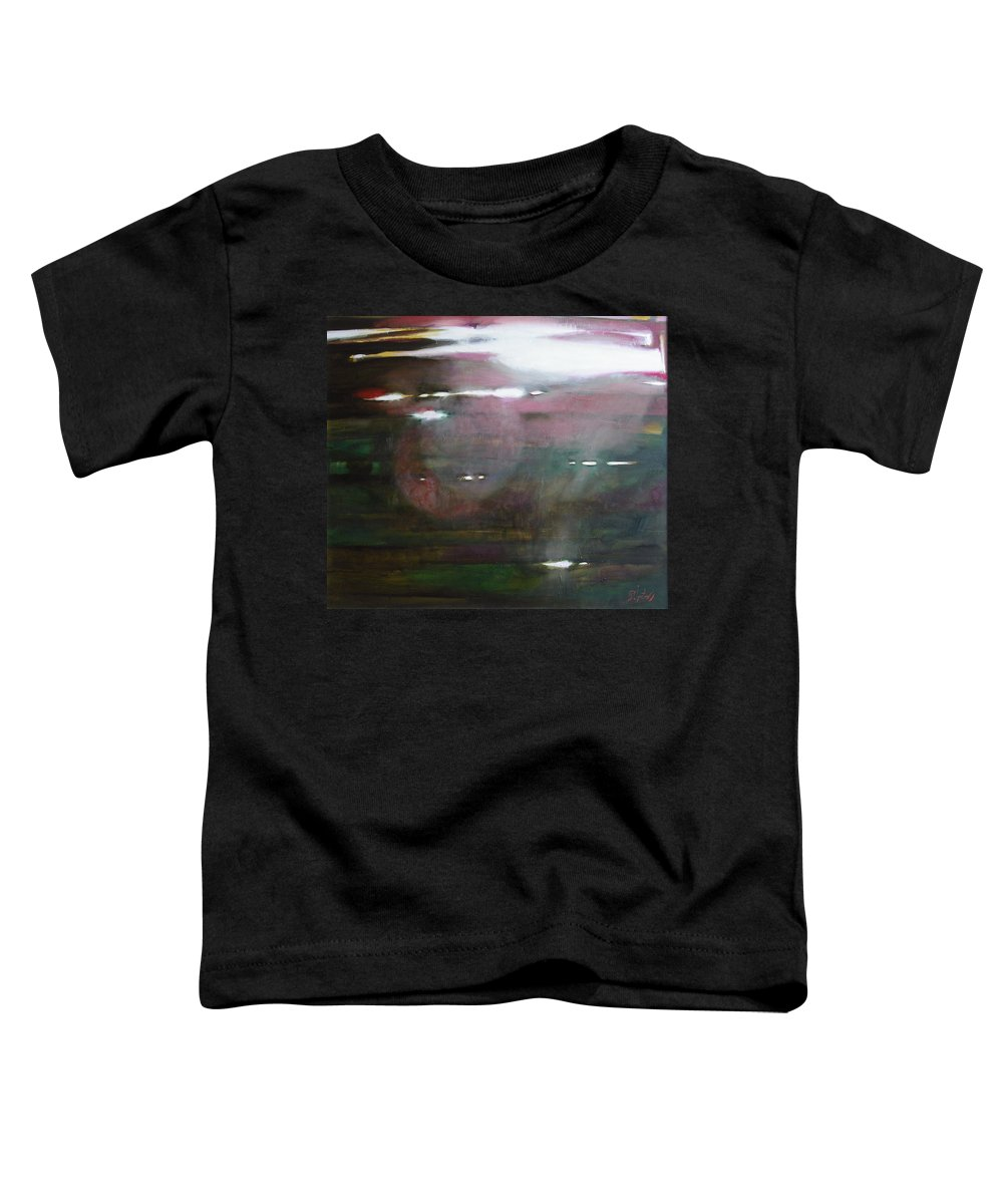 Oil Toddler T-Shirt featuring the painting The Parallel World by Sergey Ignatenko