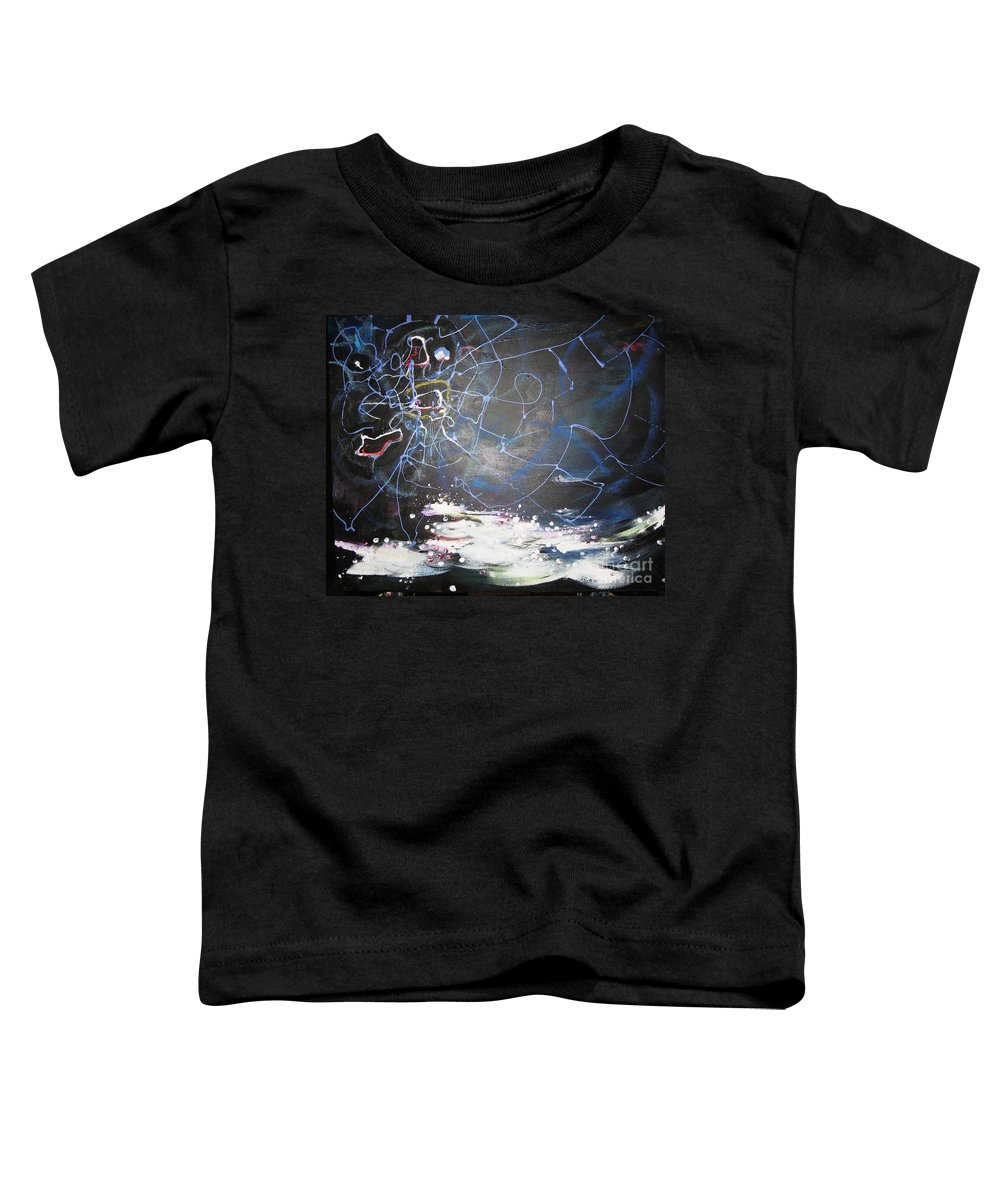 Abstract Paintings Toddler T-Shirt featuring the painting Buckwheat Field by Seon-Jeong Kim