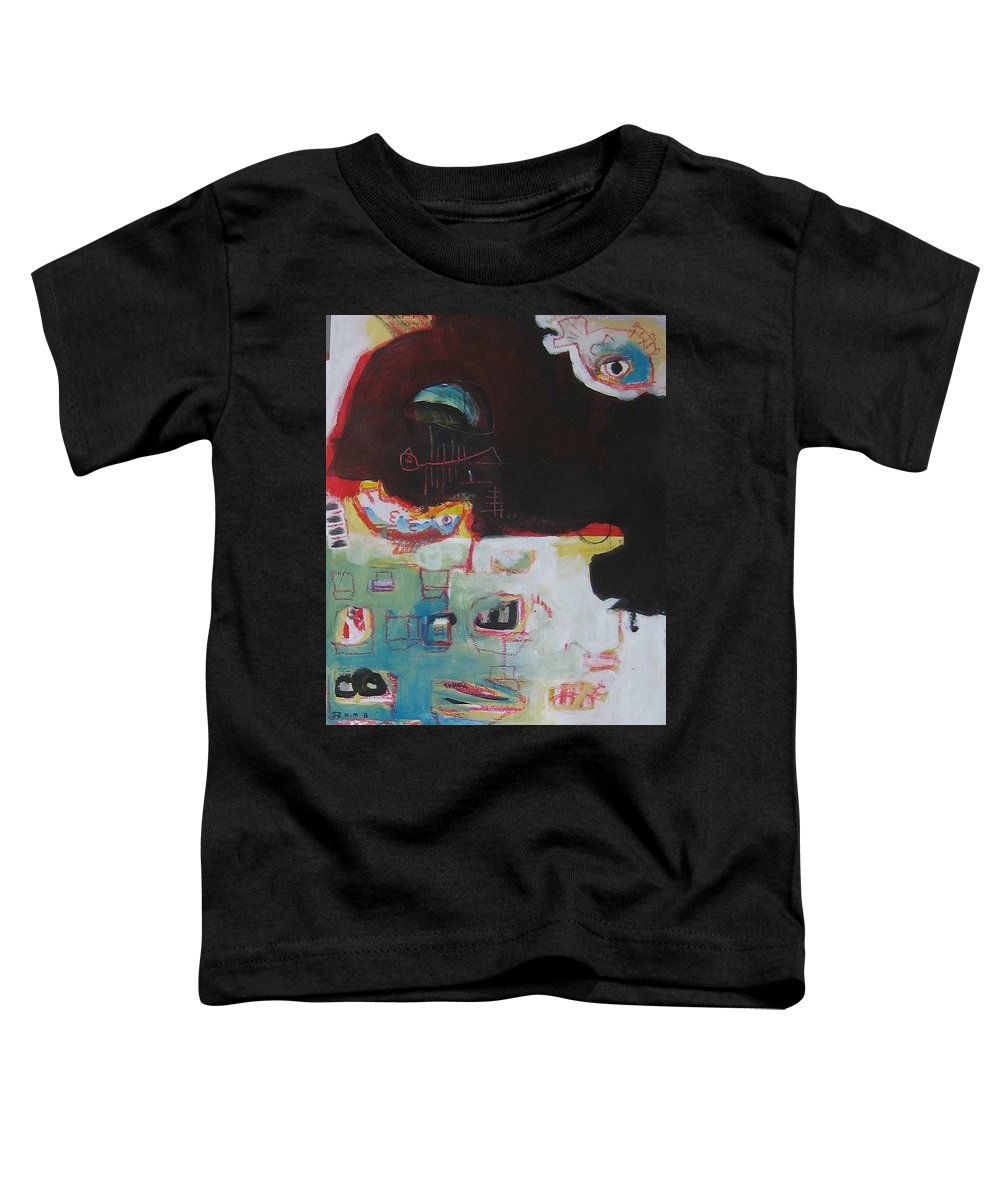 Abstract Paintings Toddler T-Shirt featuring the painting Little Bay by Seon-Jeong Kim