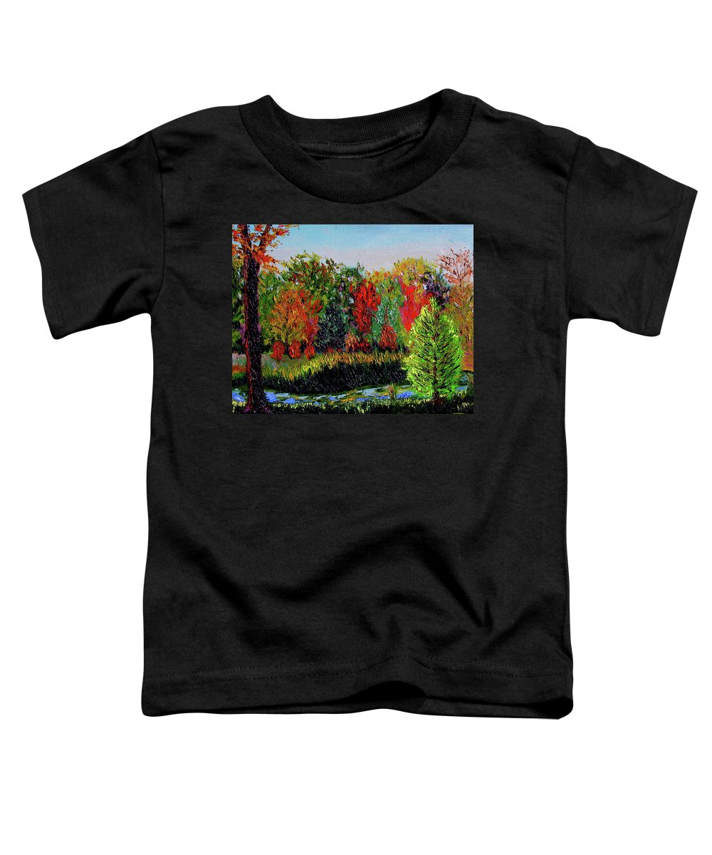 Plein Air Toddler T-Shirt featuring the painting Sewp 10 10 by Stan Hamilton