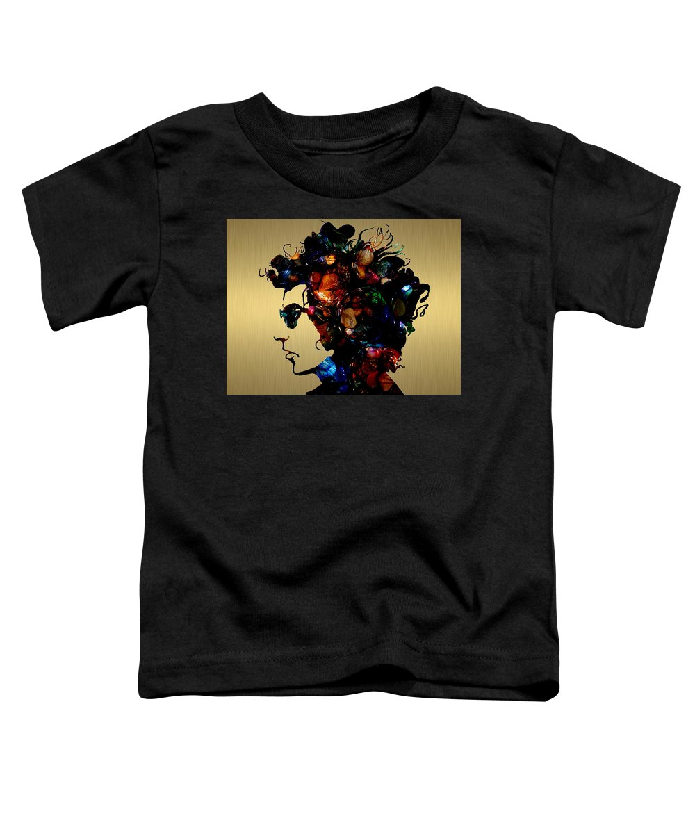 Bob Dylan Art Toddler T-Shirt featuring the mixed media Bob Dylan Collection by Marvin Blaine