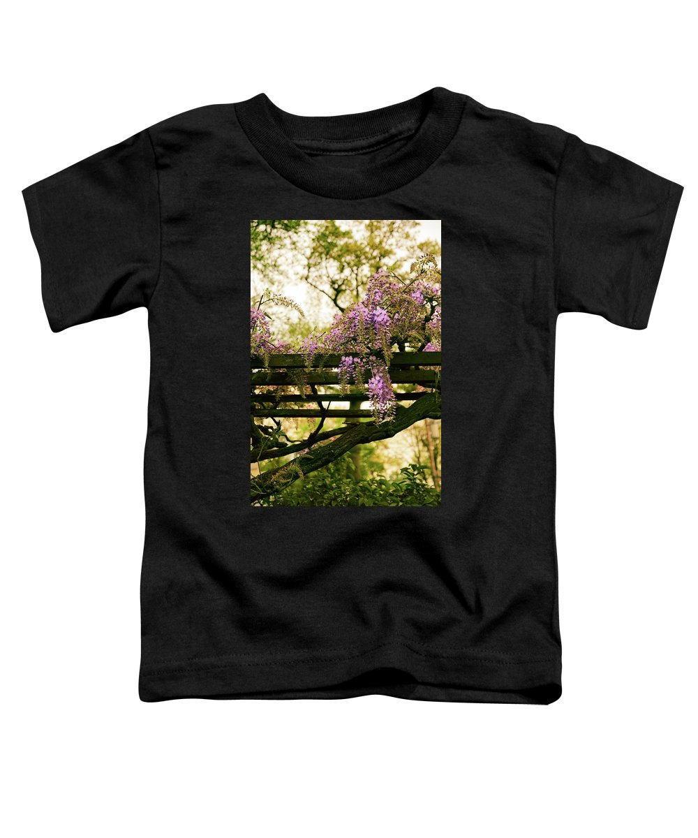 Wisteria Toddler T-Shirt featuring the photograph Wisteria Wonder by Jessica Jenney