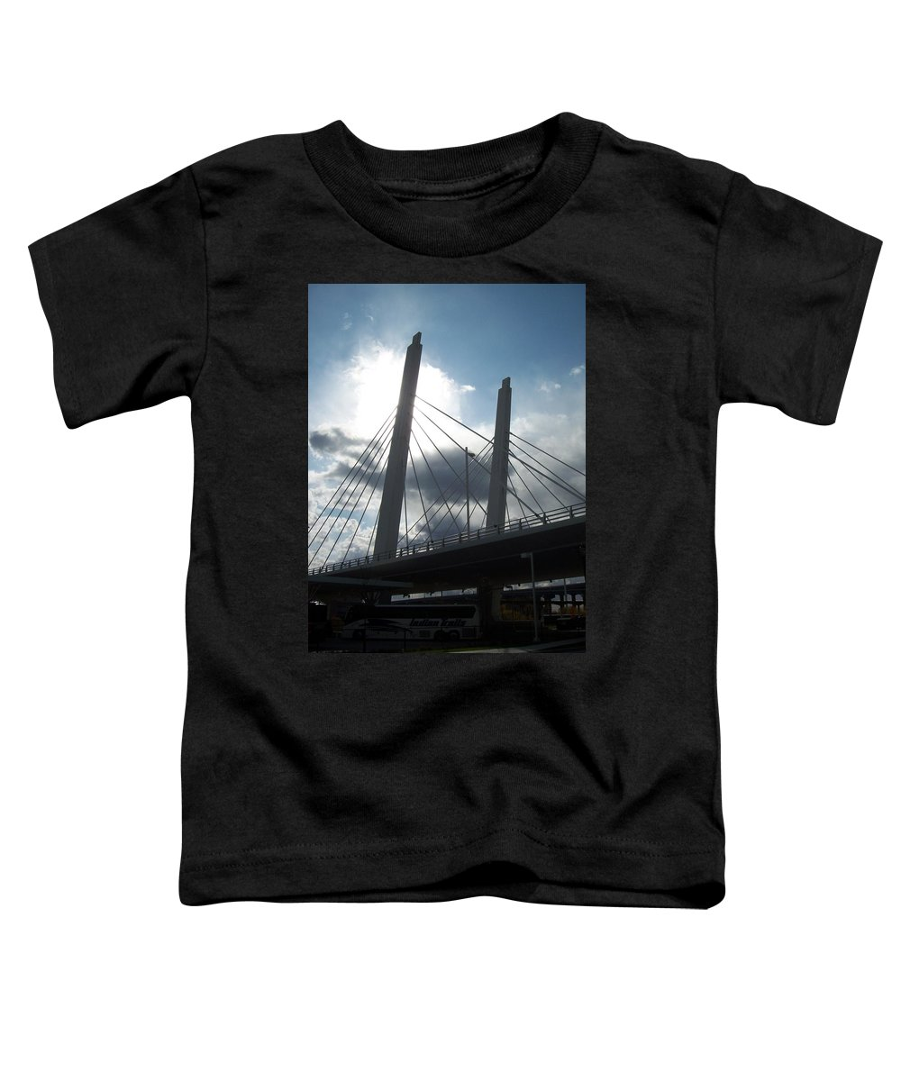 Bridge Toddler T-Shirt featuring the photograph 6th Street Bridge Backlit by Anita Burgermeister
