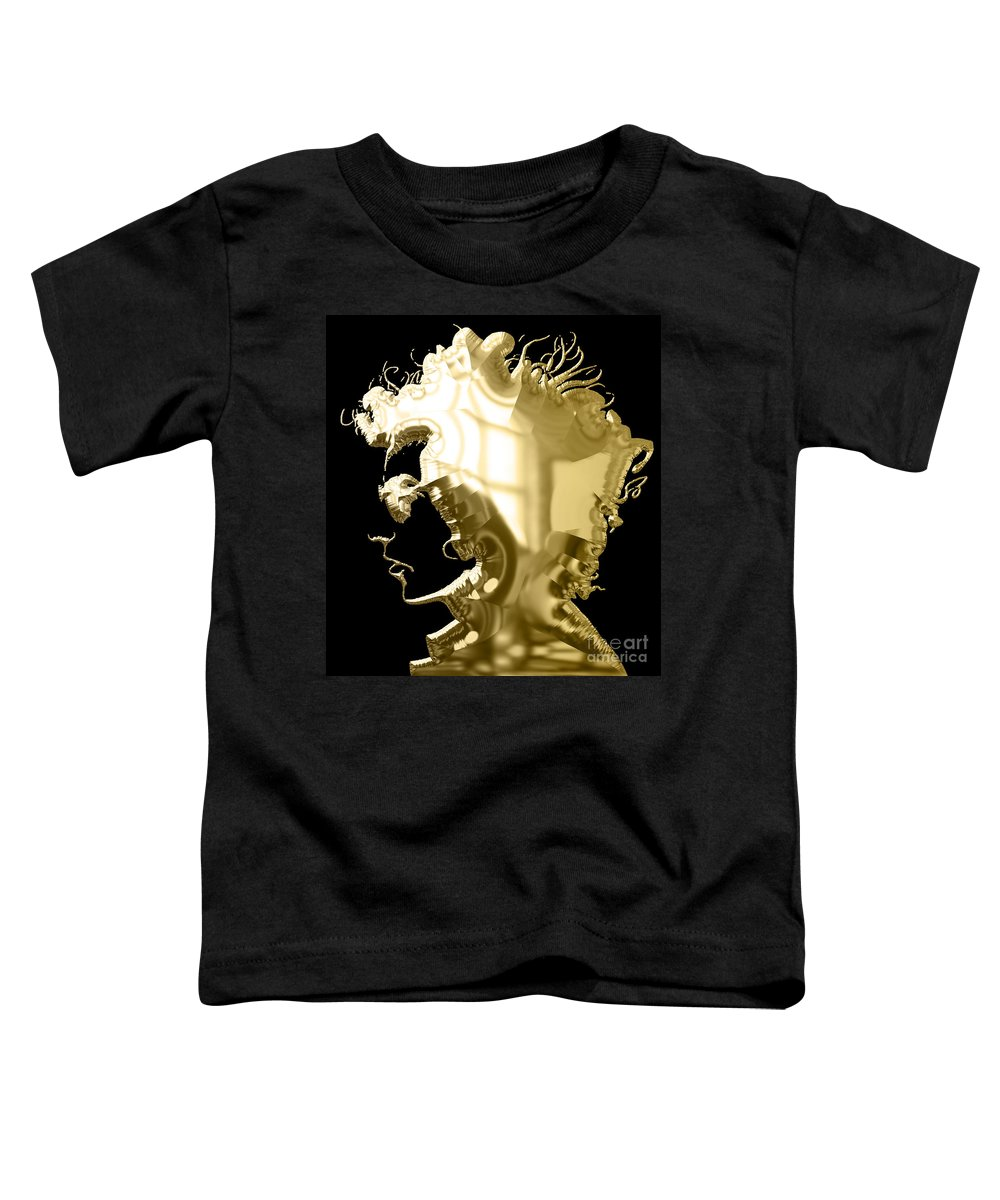Bob Dylan Toddler T-Shirt featuring the mixed media Bob Dylan Collection by Marvin Blaine