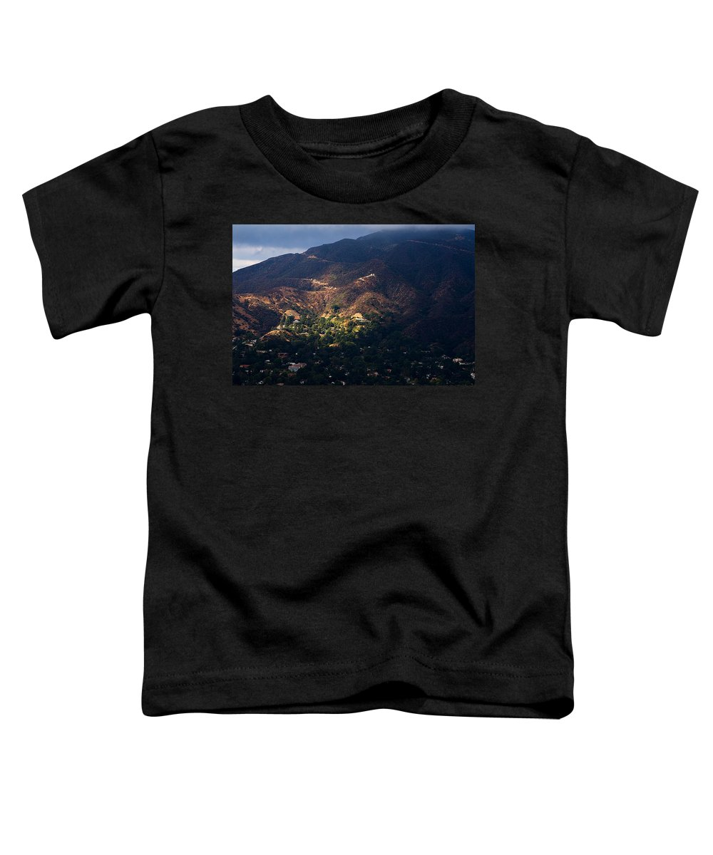 Clay Toddler T-Shirt featuring the photograph A Break In The Clouds In Southern California by Clayton Bruster