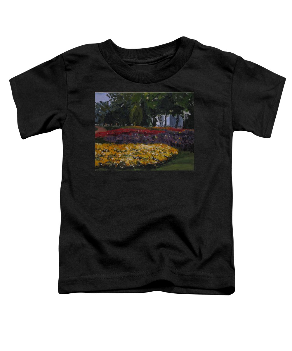 Landscape Toddler T-Shirt featuring the painting A Park In Cambrige by Piety Choi