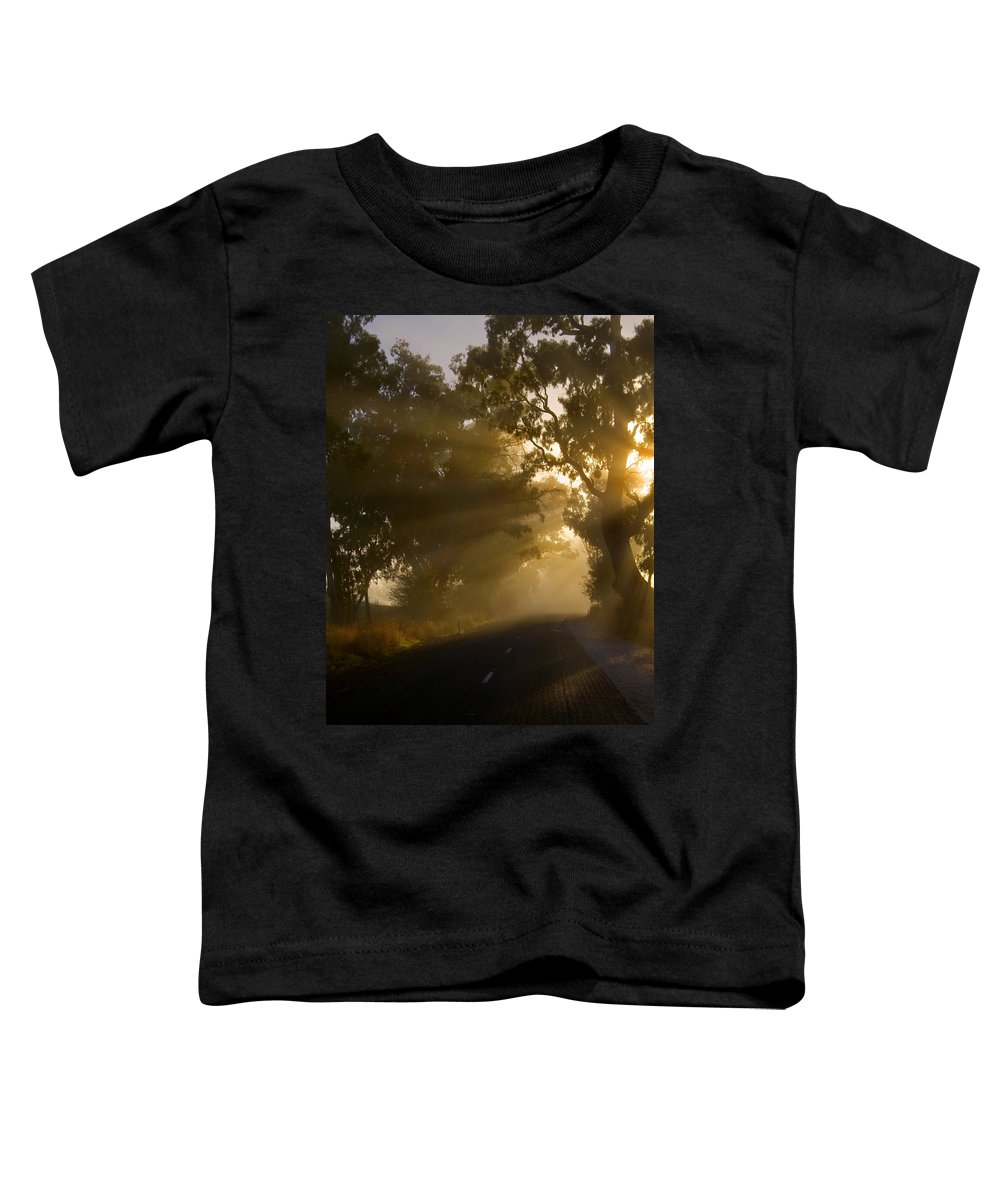 Highway Toddler T-Shirt featuring the photograph A Road Less Traveled by Mike Dawson