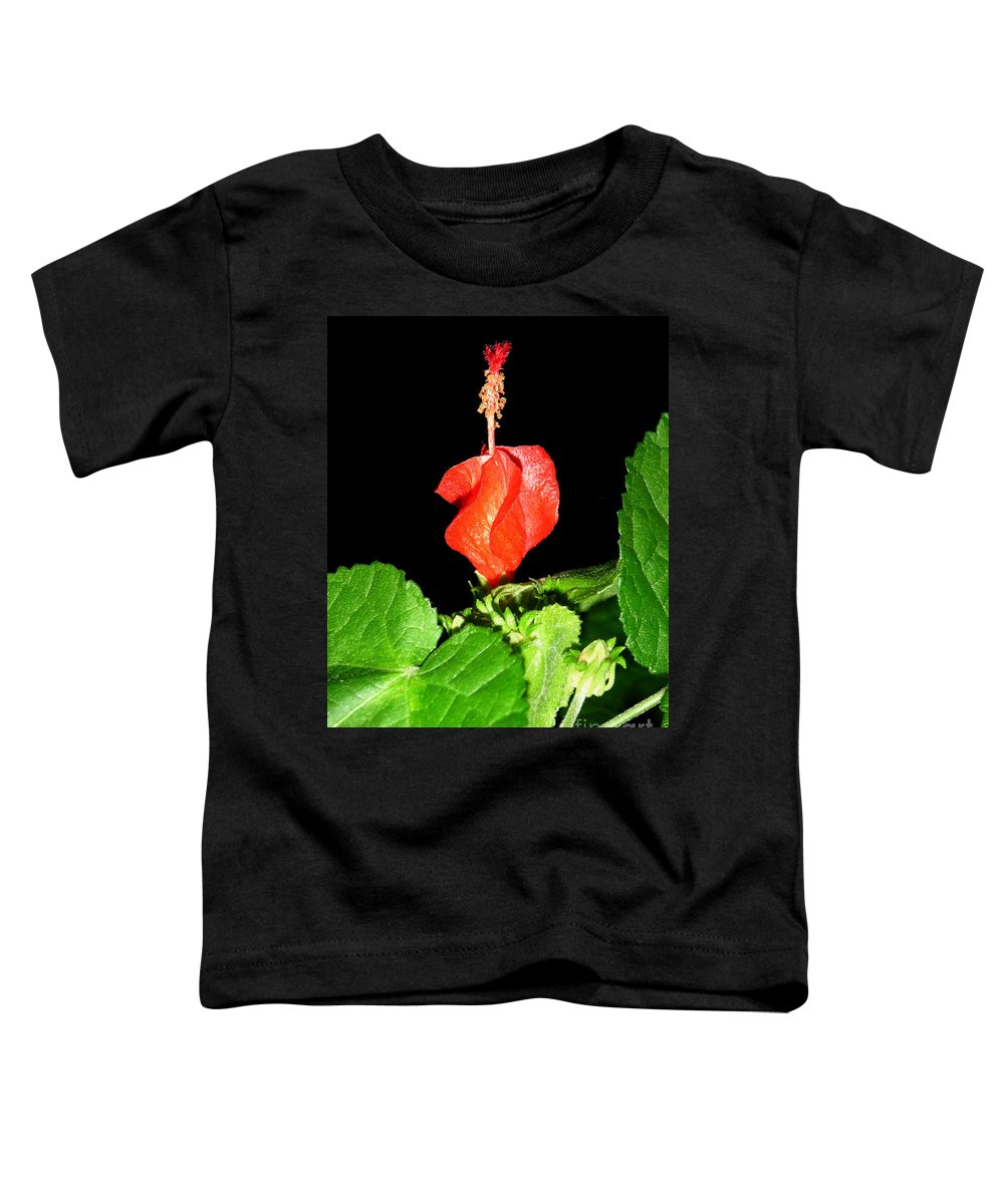 Nature Toddler T-Shirt featuring the photograph A Swirl Of Red by Lucyna A M Green