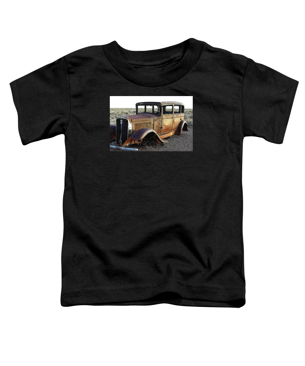 Arizona Toddler T-Shirt featuring the photograph Abandonded Along Rt 66 by Nelson Strong