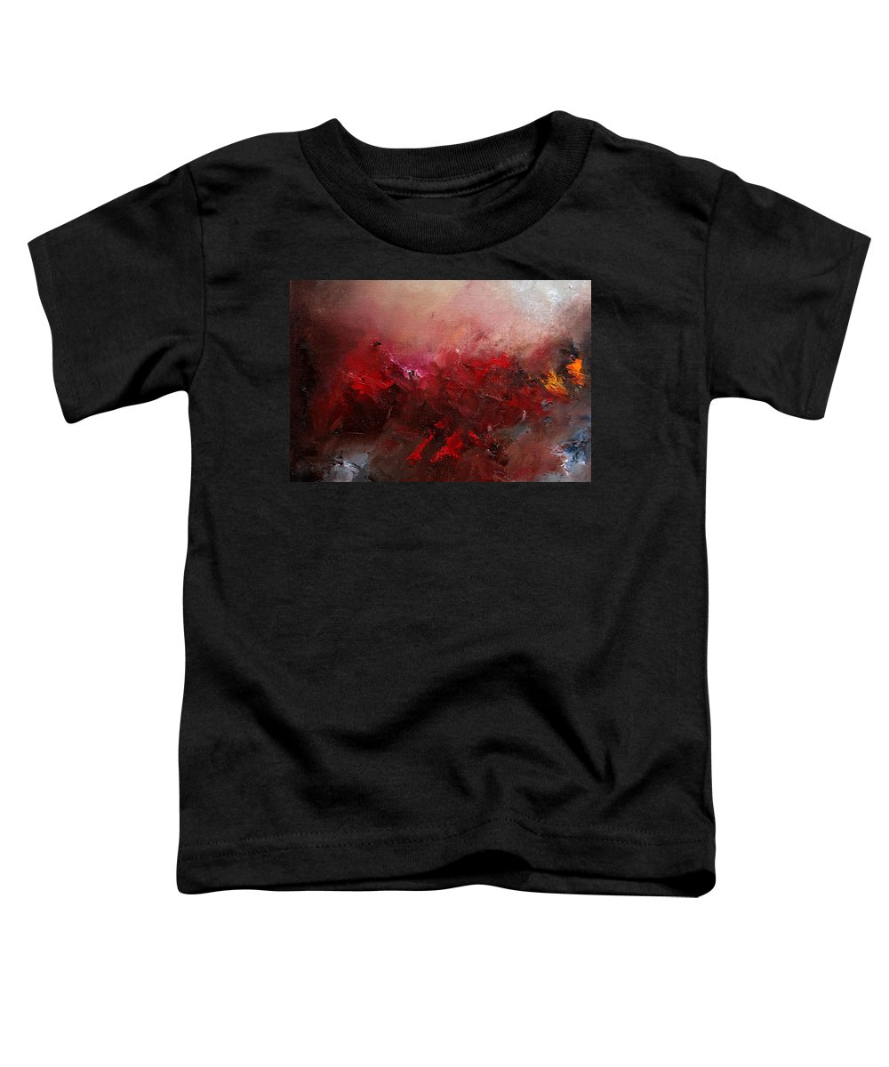 Abstract Toddler T-Shirt featuring the painting Abstract 056 by Pol Ledent