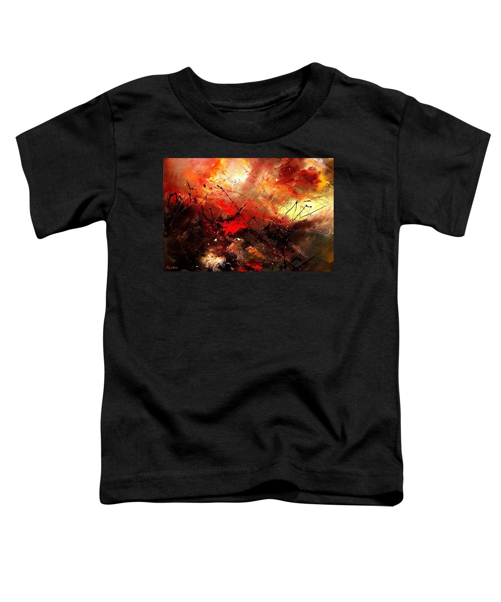Abstract Toddler T-Shirt featuring the painting Abstract 100202 by Pol Ledent