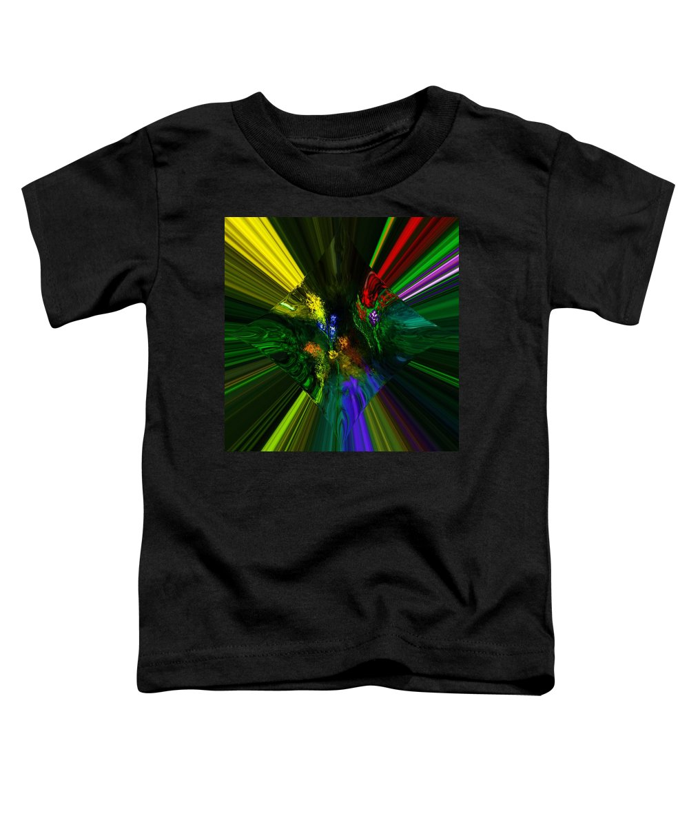 Digital Painting Toddler T-Shirt featuring the digital art Abstract Garden by David Lane