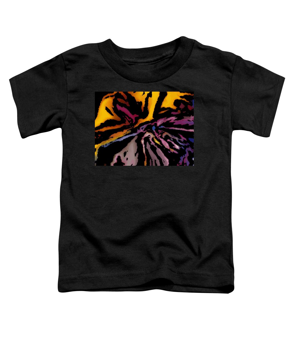 Abstract Toddler T-Shirt featuring the digital art Abstract309g by David Lane