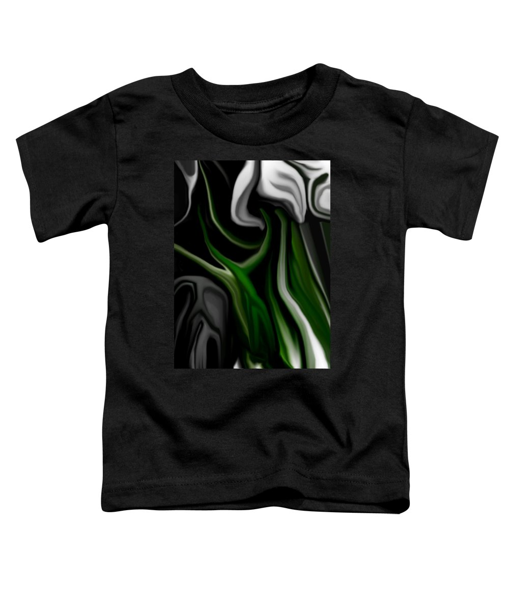 Abstract Toddler T-Shirt featuring the digital art Abstract309h by David Lane