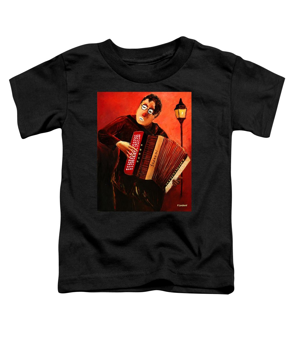 Music Toddler T-Shirt featuring the print Accordeon by Pol Ledent