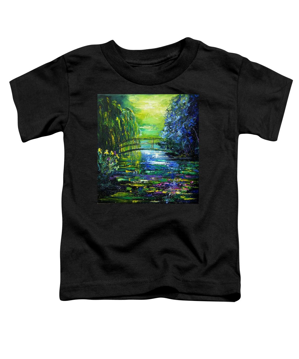 Pond Toddler T-Shirt featuring the painting After Monet by Pol Ledent