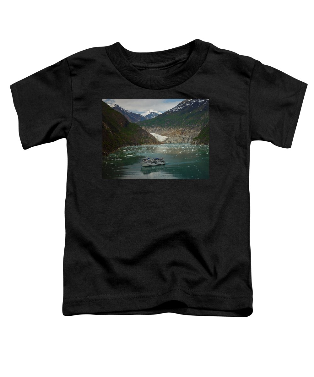 Alaska Toddler T-Shirt featuring the photograph Alaska Endicott Glacier by Heather Coen