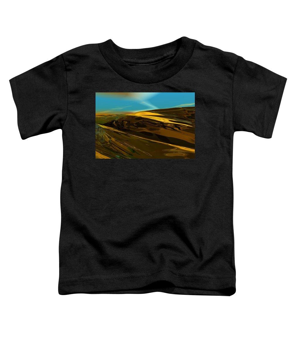 Landscape Toddler T-Shirt featuring the digital art Alien Landscape 2-28-09 by David Lane