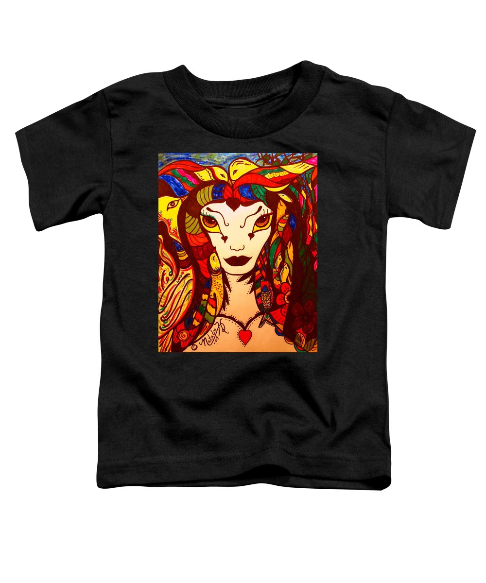 Fantasy Toddler T-Shirt featuring the painting Amazon Queen by Natalie Holland