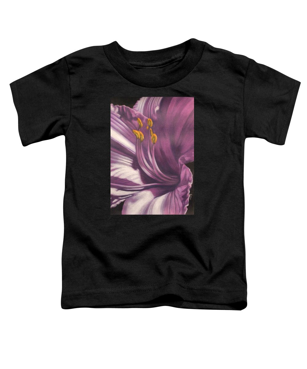 Floral Toddler T-Shirt featuring the mixed media Amethyst by Barbara Keith
