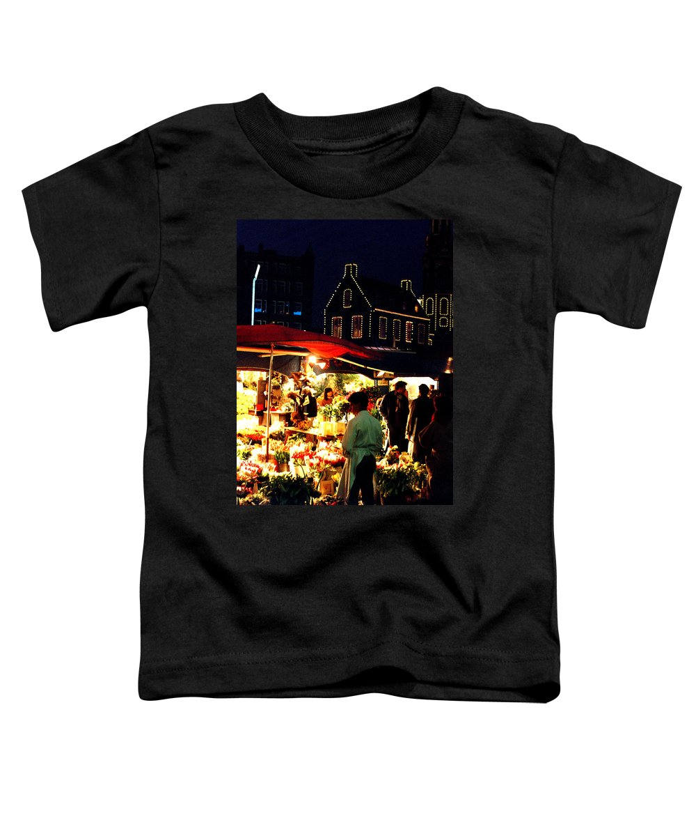 Flowers Toddler T-Shirt featuring the photograph Amsterdam Flower Market by Nancy Mueller