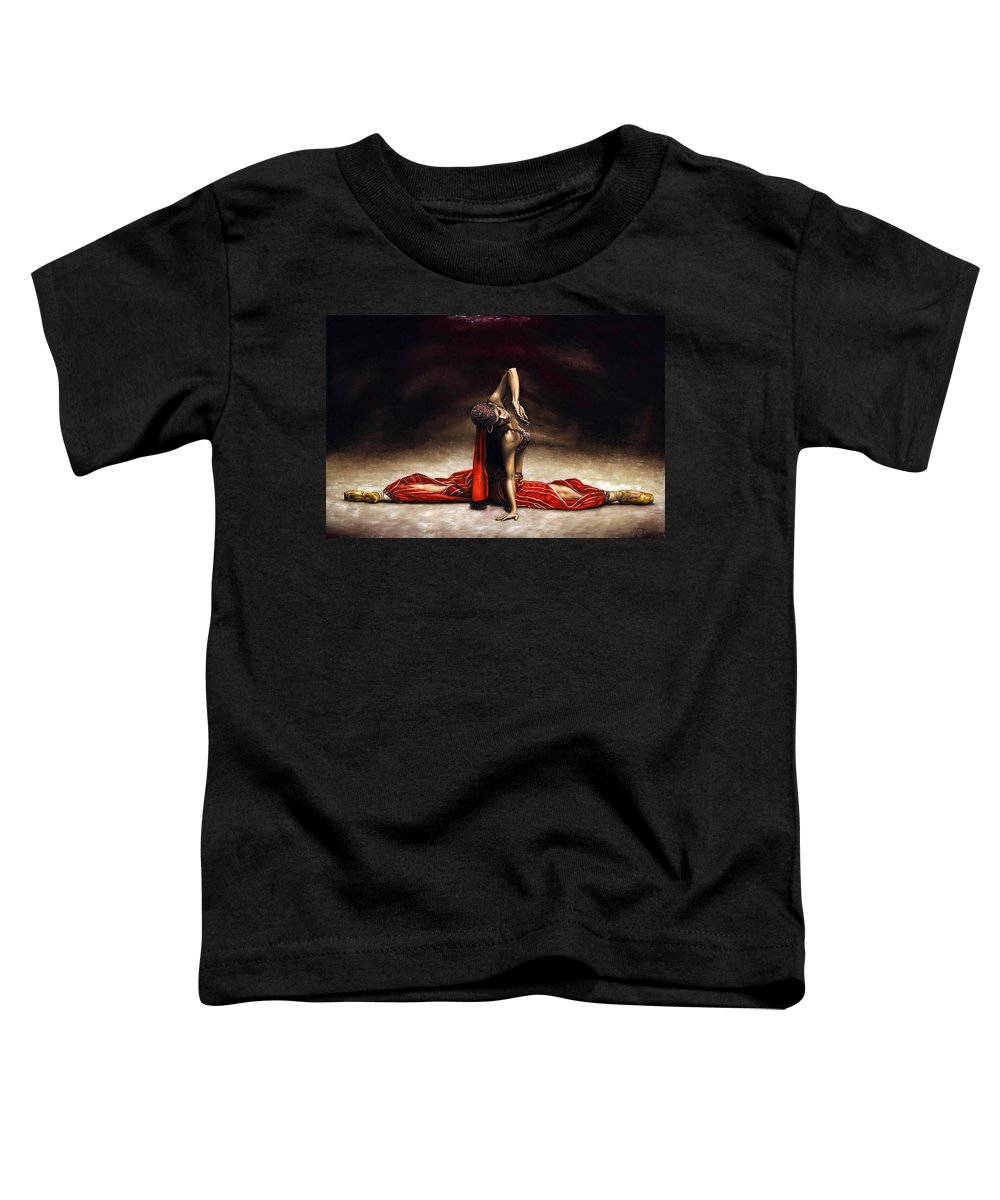 Ballerina Toddler T-Shirt featuring the painting Arabian Coffee by Richard Young
