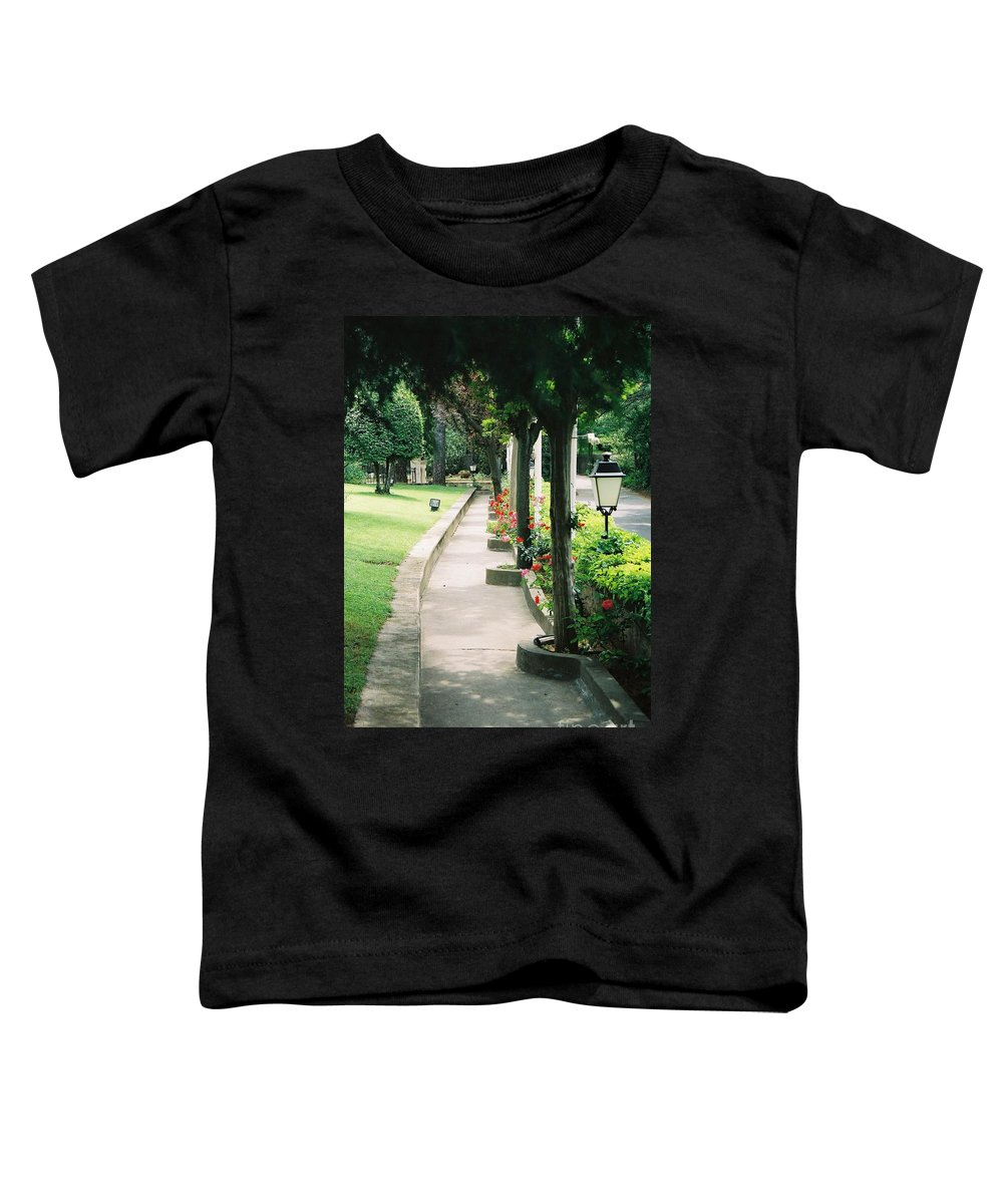 Arles Toddler T-Shirt featuring the photograph Arles Walkway by Nadine Rippelmeyer