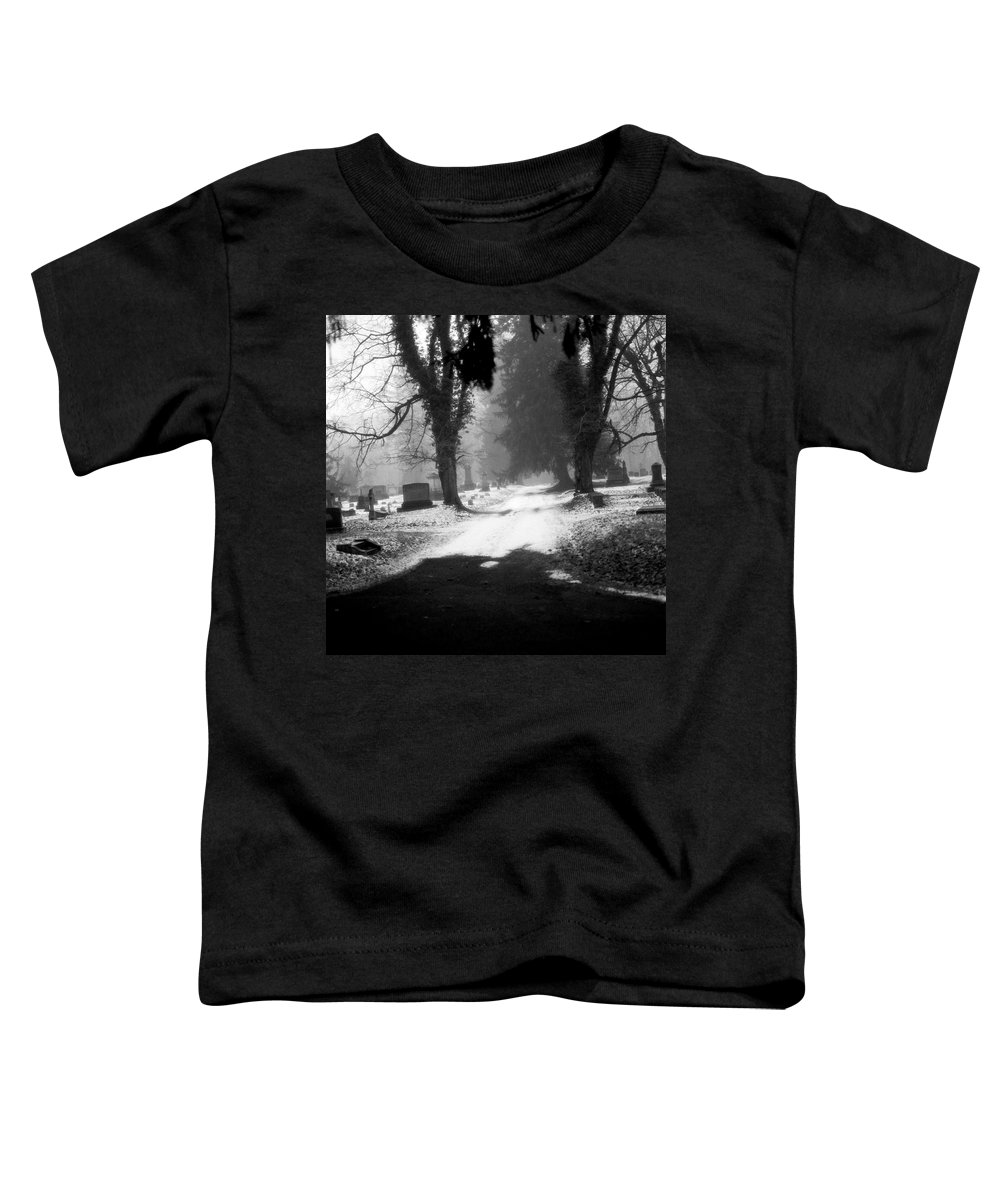 Photograph Toddler T-Shirt featuring the photograph Ashland Cemetery by Jean Macaluso