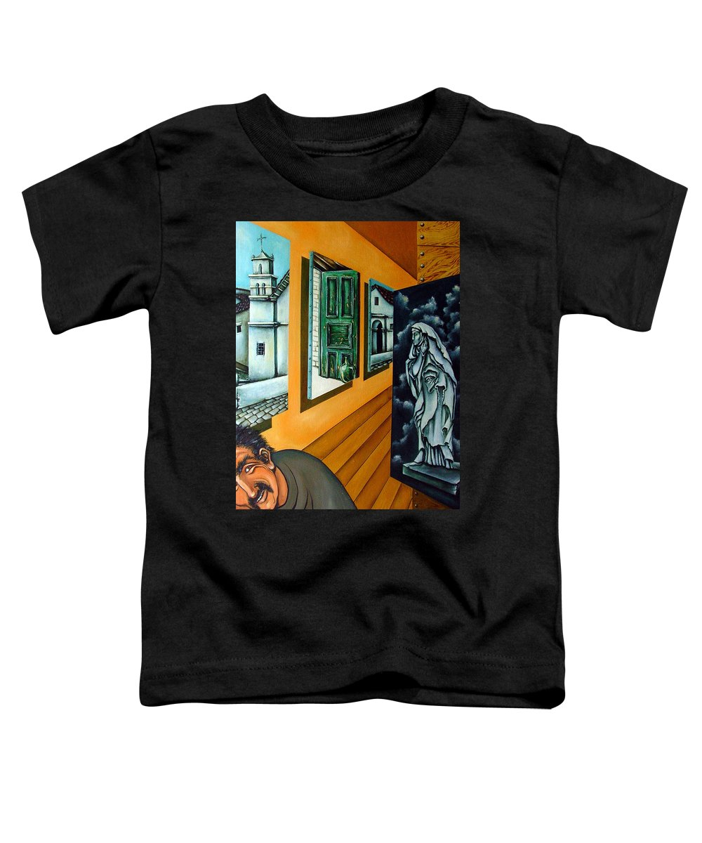 Surreal Toddler T-Shirt featuring the painting Asylum by Valerie Vescovi