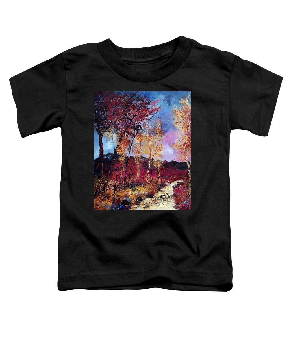 Landscape Toddler T-Shirt featuring the painting Autumn 760808 by Pol Ledent