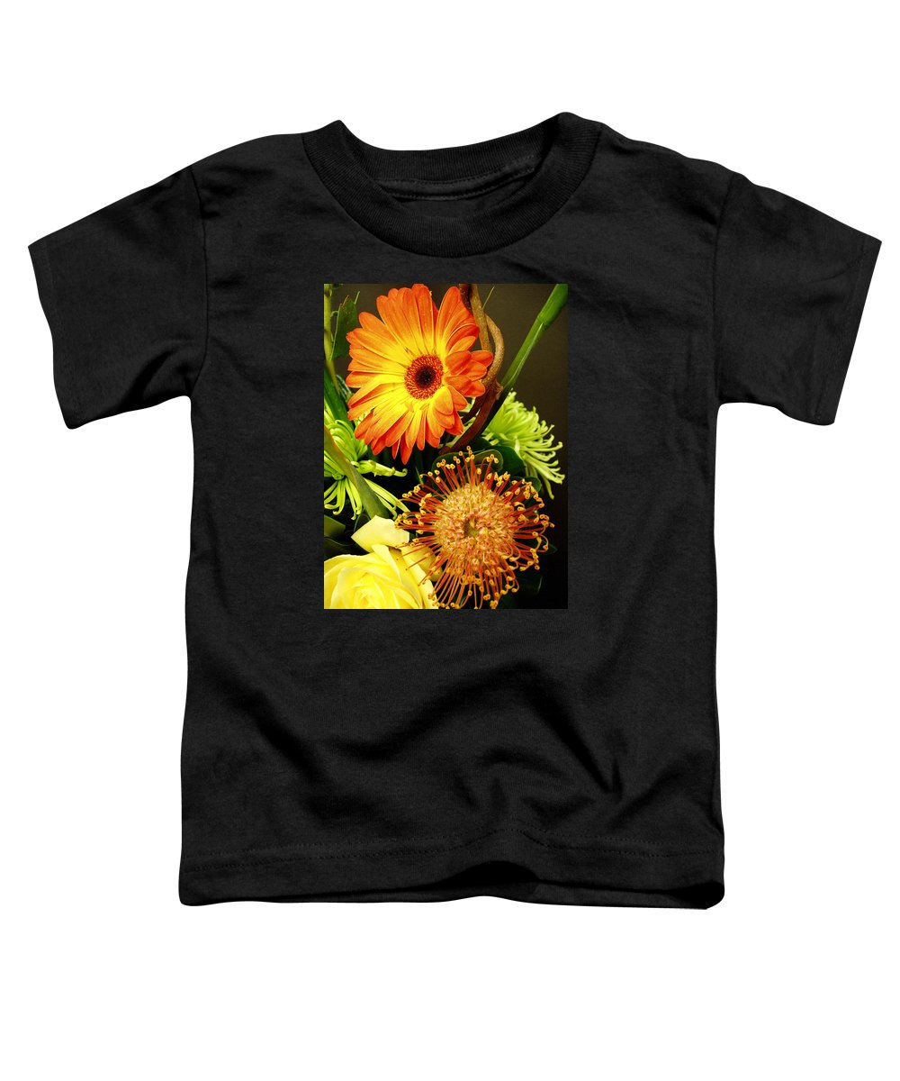 Autumn Toddler T-Shirt featuring the photograph Autumn Flower Arrangement by Nancy Mueller