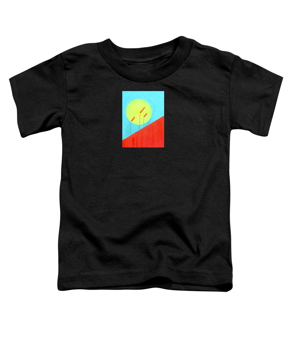 Landscape Toddler T-Shirt featuring the painting Autumn Harvest by J R Seymour