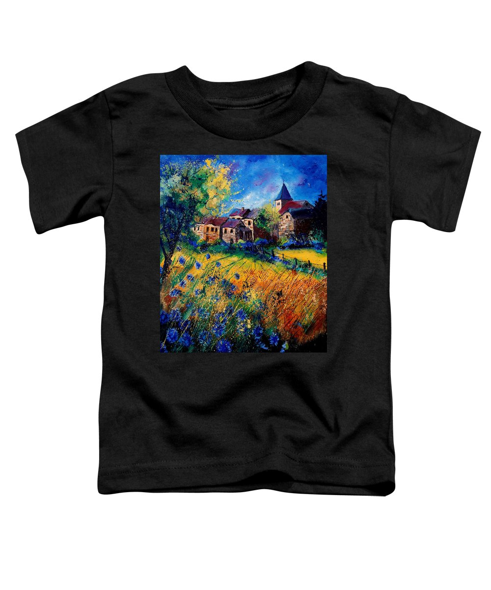 Tree Toddler T-Shirt featuring the painting Awagne 67 by Pol Ledent