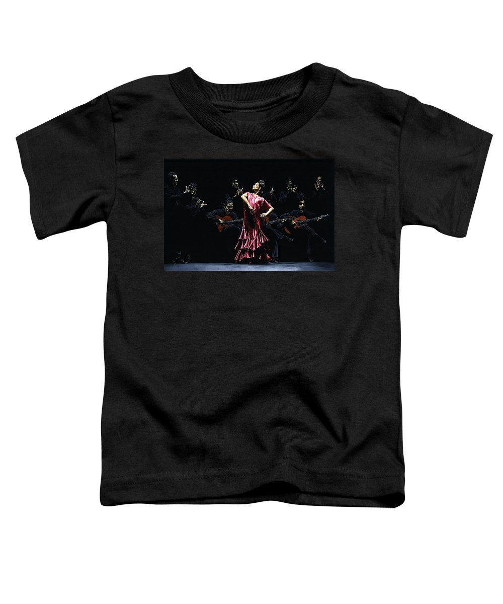 Flamenco Toddler T-Shirt featuring the painting Bailarina Orgullosa Del Flamenco by Richard Young