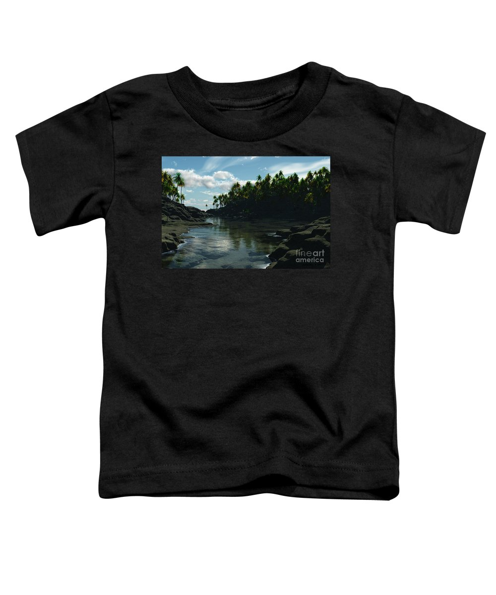 Rivers Toddler T-Shirt featuring the digital art Banana River by Richard Rizzo