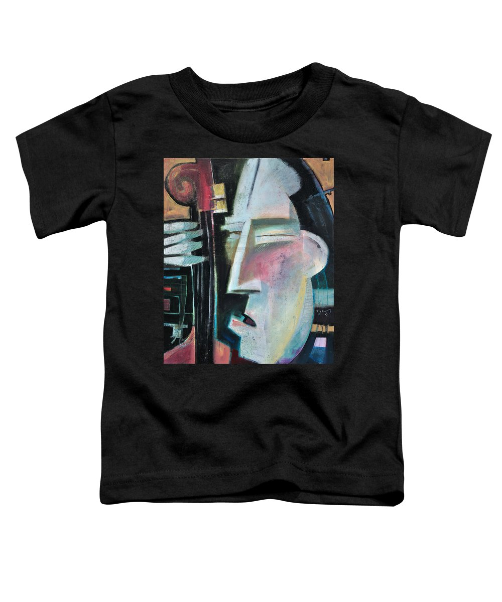 Jazz Toddler T-Shirt featuring the painting Bass Face by Tim Nyberg