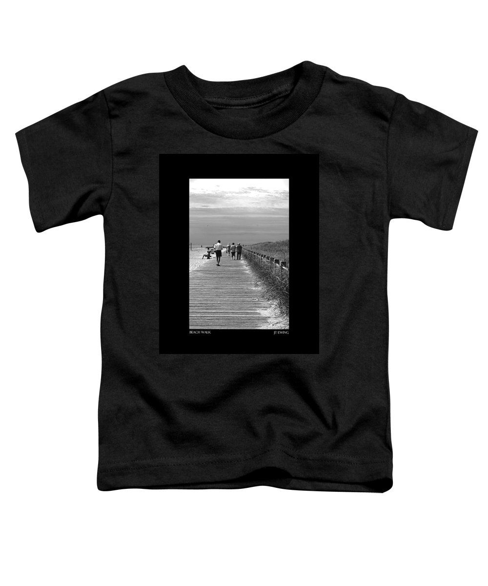 Boardwalk Toddler T-Shirt featuring the photograph Beach Walk by J Todd